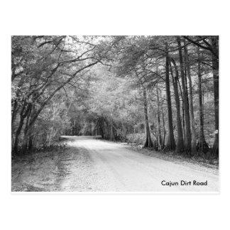 Carte postale de chemin de terre de Cajun