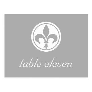 Carte postale de Chic Fleur De Lis Table, grise