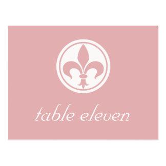 Carte postale de Chic Fleur De Lis Table, rose