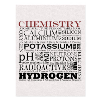 Carte postale de chimie