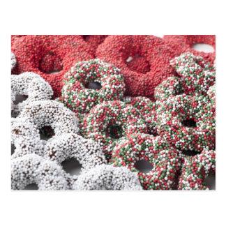 Carte postale de chocolats de Noël