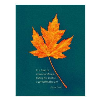 Carte postale de citation de George Orwell