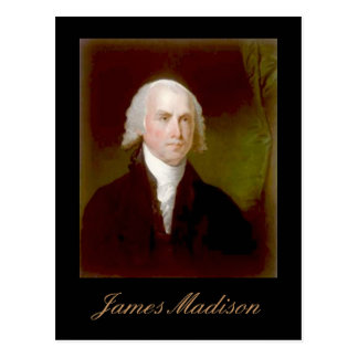 Carte postale de citation de James Madison