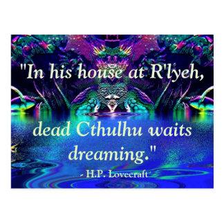 Carte postale de citation de Lovecraft