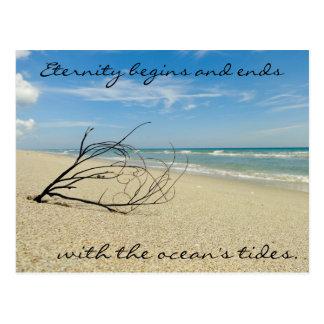 Carte postale de citation d'océan