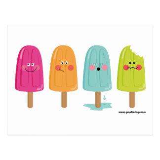 carte postale de citron de crème glacée