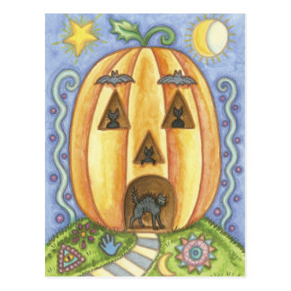 Carte postale de citrouille de Halloween