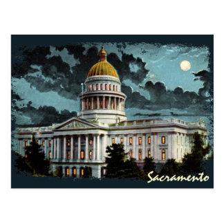 Carte postale de clair de lune de capitol d'état