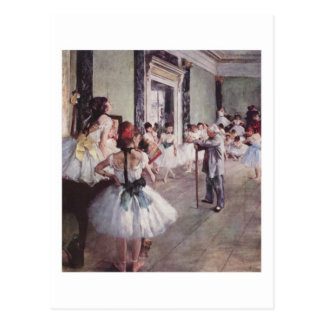 Carte postale de classe de ballet