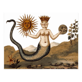 Carte postale de Clavis Artis - triton avec trois