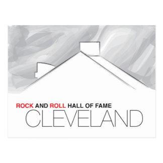 Carte postale de Cleveland de Panthéon de rock