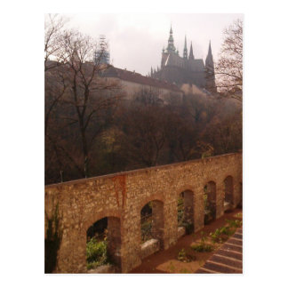 Carte postale de cloître de Prague