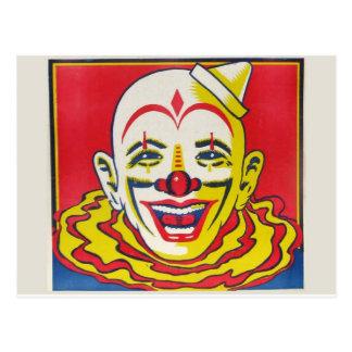 Carte postale de clown de cirque