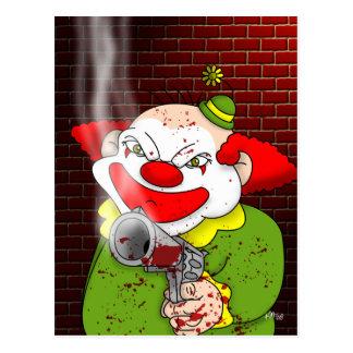 Carte postale de clown de tueur