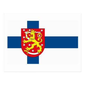 Carte postale de COA du drapeau W de la Finlande