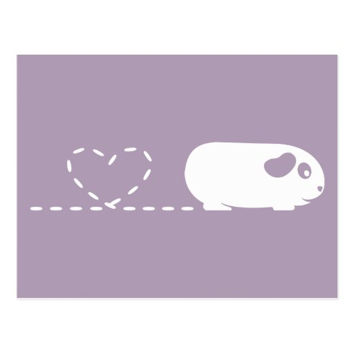 Carte postale de cobaye de coeur de Pooping
