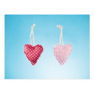 Carte postale de coeur d'amour