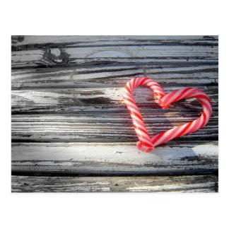 Carte postale de coeur de sucrerie