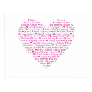 Carte postale de coeur d'IMHM