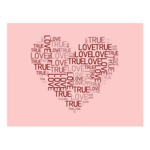 Carte postale de coeur et d'amour