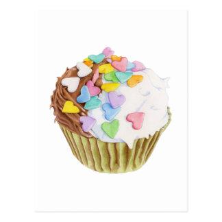 Carte postale de coeurs de petit gâteau