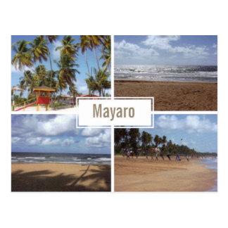 Carte postale de collage de plage de Mayaro