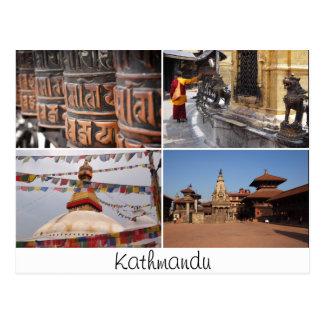 Carte postale de collage de religion de Katmandou