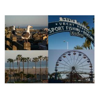 Carte postale de collage de Santa Monica