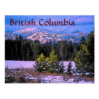 Carte postale de Colombie-Britannique