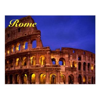 carte postale de colosseum de Rome