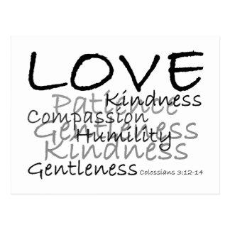 Carte postale de Colossians 3 d'amour