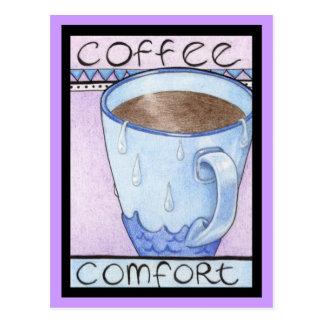Carte postale de confort de café