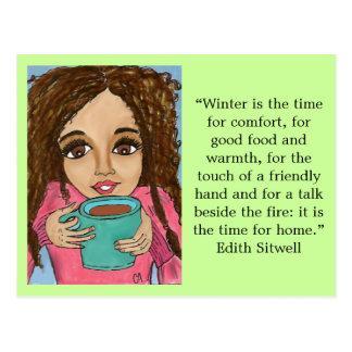 Carte postale de confort d'hiver
