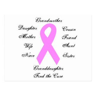 Carte postale de conscience de cancer du sein