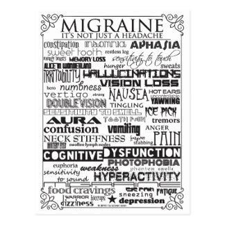 Carte postale de conscience de migraine