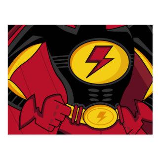 Carte postale de costume de super héros