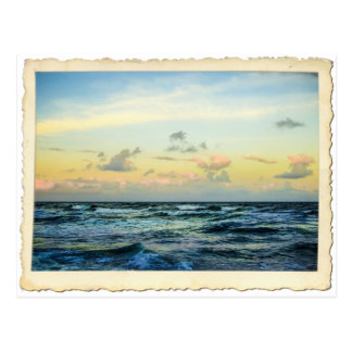 Carte postale de côte de trésor de l'Océan