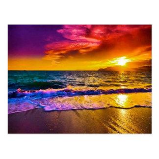 Carte postale de coucher du soleil