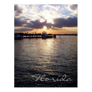 Carte postale de coucher du soleil de la Floride