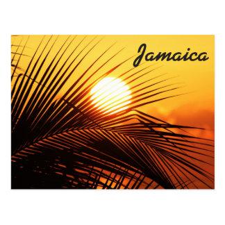 Carte postale de coucher du soleil de la Jamaïque