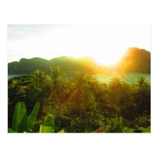Carte postale de coucher du soleil de la Thaïlande