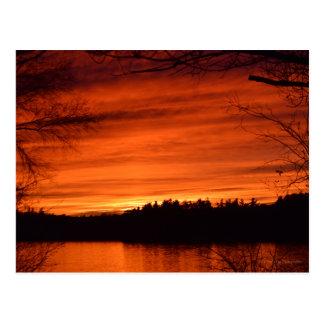 Carte postale de coucher du soleil de novembre