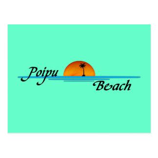 Carte postale de coucher du soleil de plage de