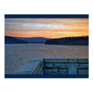 Carte postale de coucher du soleil de Scranton de