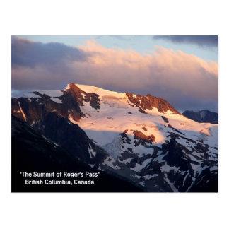 Carte postale de coucher du soleil de sommet