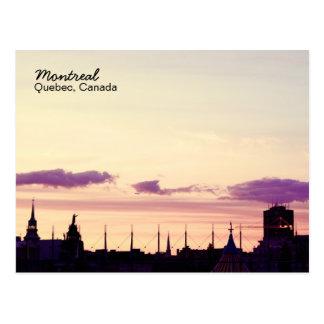 Carte postale de coucher du soleil d'horizon de Mo