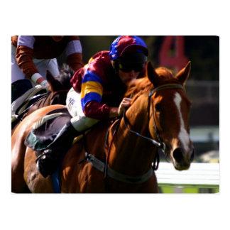 Carte postale de course de chevaux