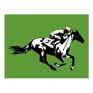 Carte postale de courses de cheval
