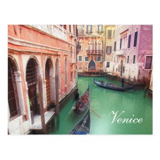 Carte postale de coutume de canal de Venise