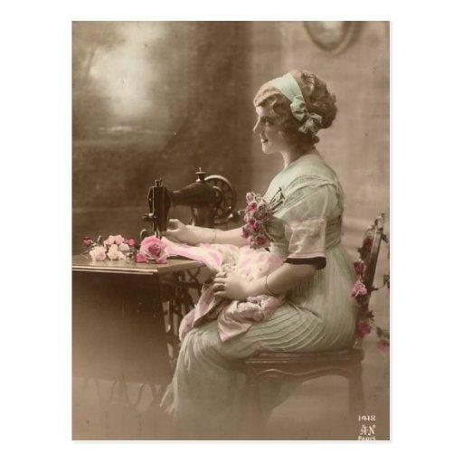Carte postale de couture vintage